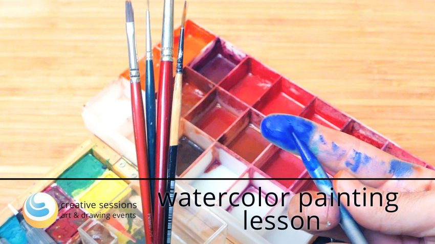 Watercolor Painting Lesson [#1 The Setup]
