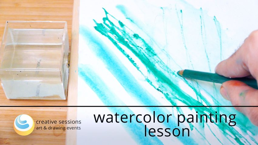 Watercolor Painting Lesson [#2 Color Sketching]