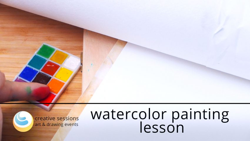 Watercolor Painting Lesson [#3 Paper Surface]