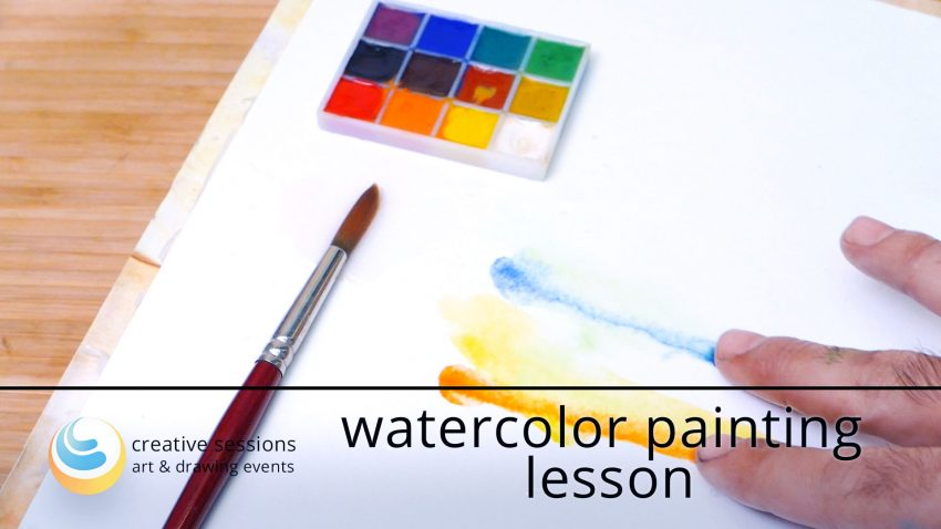 Watercolor Painting Lesson [#4 Basic Techniques]