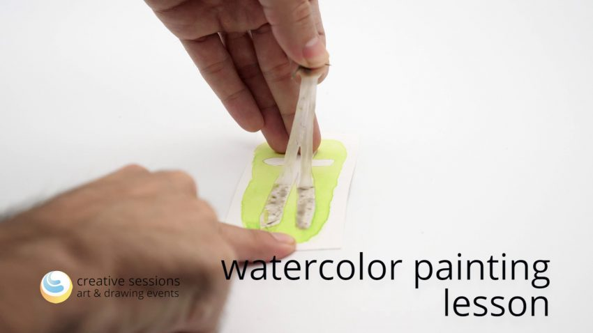 Watercolor Painting Lesson [#6 Masking]