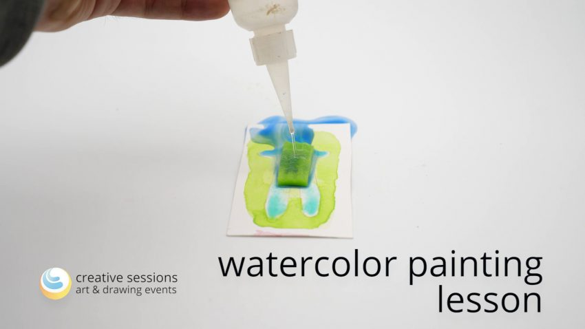 Watercolor Painting Lesson [#7 Wet Painting]