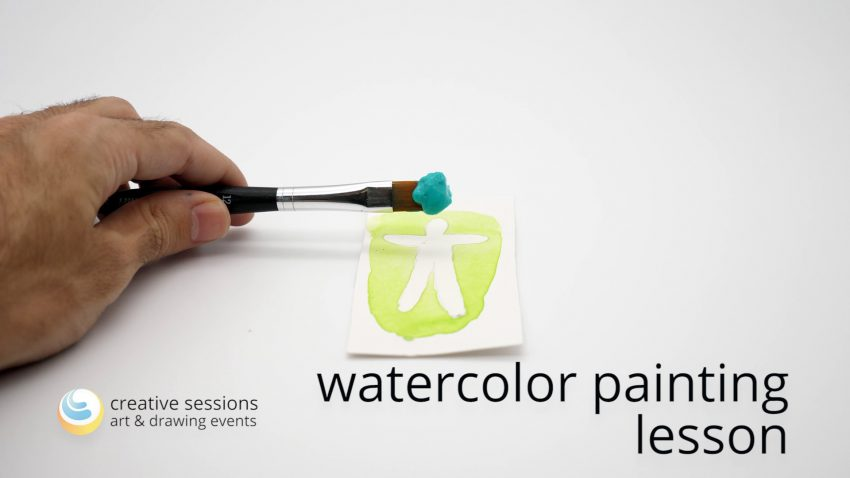 Watercolor Painting Lesson [#8 Dry Painting]