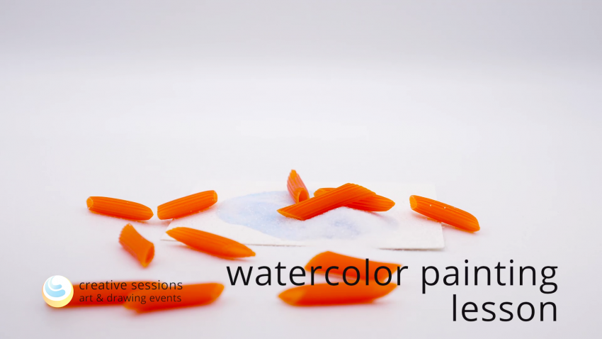 Watercolor Painting Lesson [#9 Textures]