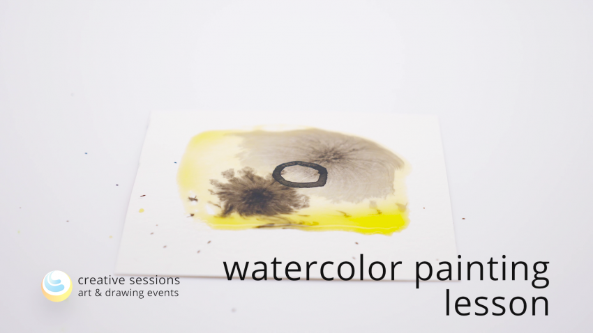 Watercolor Painting Lesson [#10 Material Mixing]