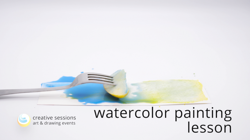 Watercolor Painting Lesson [#11 Still Life]